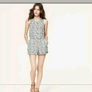 Ann Taylor sleeveless floral romper size 4